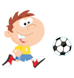 Soccer Boy With Ball vector image vector image