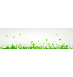 Banner with green rhombs vector