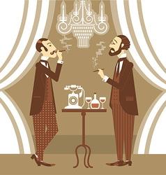 gentlemen in club vector image vector image