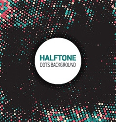 halftone dots background 2609 vector image vector image