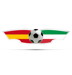realistic soccer ball or football on itali and vector image vector image