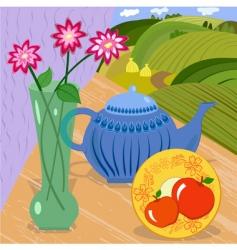 still tea vector image vector image