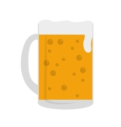 beer glass isolated icon vector image vector image