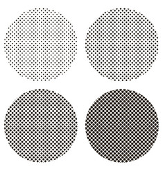 circle dots pattern pop art vector image