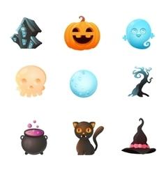 Icon set Halloween vector image vector image
