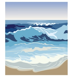 Summer Beach Waves vector image vector image