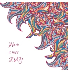wavy doodle card vector image vector image