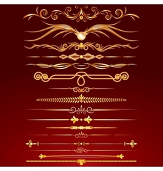 Collection of Golden Rule Lines vector image vector image