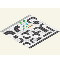 isometric map kit vector image vector image