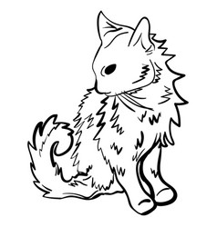 sketch tattoo kitten vector image