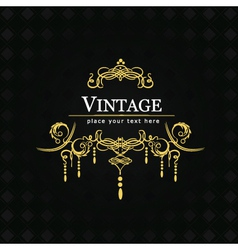 Vintage flourishes for poster vector image vector image