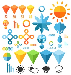 Weather Set of infographics elements vector image