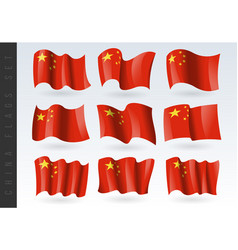 3d waving flag china isolated on white vector image