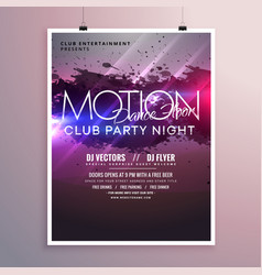 Abstract dance music party flyer template with vector