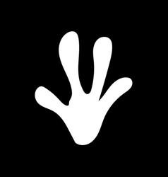 Animal footprint icon design vector