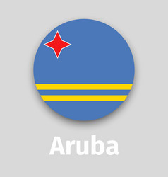 aruba flag round icon vector image