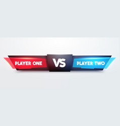 Battle scoreboard fight game interface for player vector