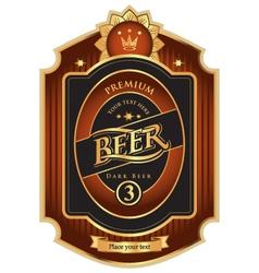 Beer premium class vector