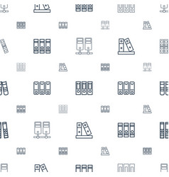 binders icons pattern seamless white background vector image