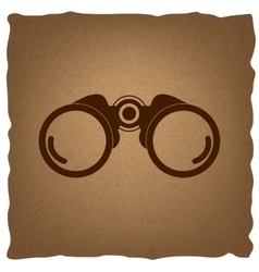 Binocular sign Vintage effect vector image