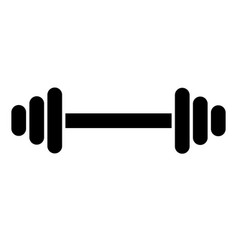 Black dumbbell icon for your design bumbbell vector