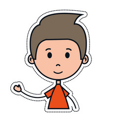 Boy cartoon icon vector