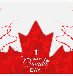 Canada day background with red maple leaf vector