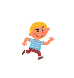 Cartoon character boy running vector