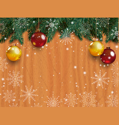 christmas background with detailed pine branches vector image