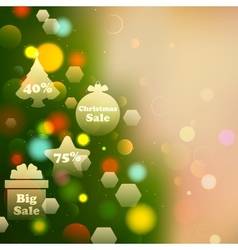 Christmas Offer on Bokeh Effect Background vector image