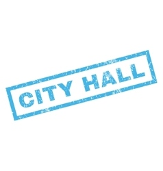 City Hall Rubber Stamp vector image