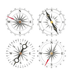Compass set different navigation sign vector