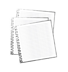 contour notebooks school icon vector image