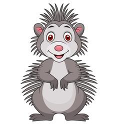 Cute porcupine cartoon vector