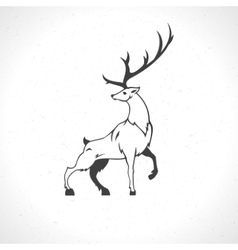 Deer silhouette isolated on white background vector