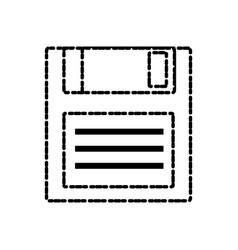 diskette old technology vector image