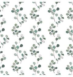 Eucalyptus branches in modern single line art vector