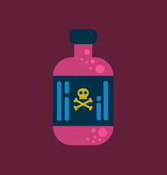 flat icon stylish background potion in bottle vector image