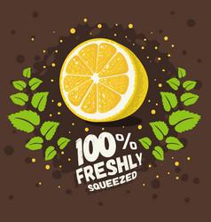 Freshly squeezed homemade lemonade design vector