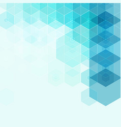 geometrical hexagons blue background element vector image
