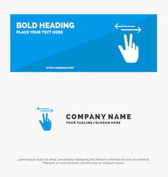gestures hand mobile touch solid icon website vector image
