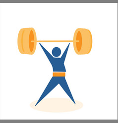 golden weight from collection the sports vector image