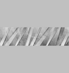 Grey abstract corporate grunge banner vector