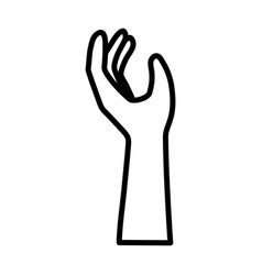 hand with support gesture icon design vector image