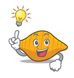 Have an idea conchiglie pasta mascot cartoon vector