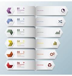 Hexagon Geometric Shape Infographic Design vector image