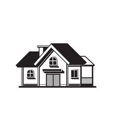 house black icon vector image