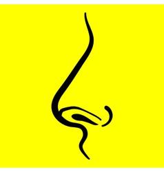 Icon nose vector