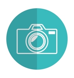 Icon photographic camera silhouette blue shadow vector