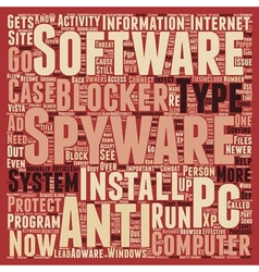 Importance Of PC Anti Spyware And Spyware Blockers vector